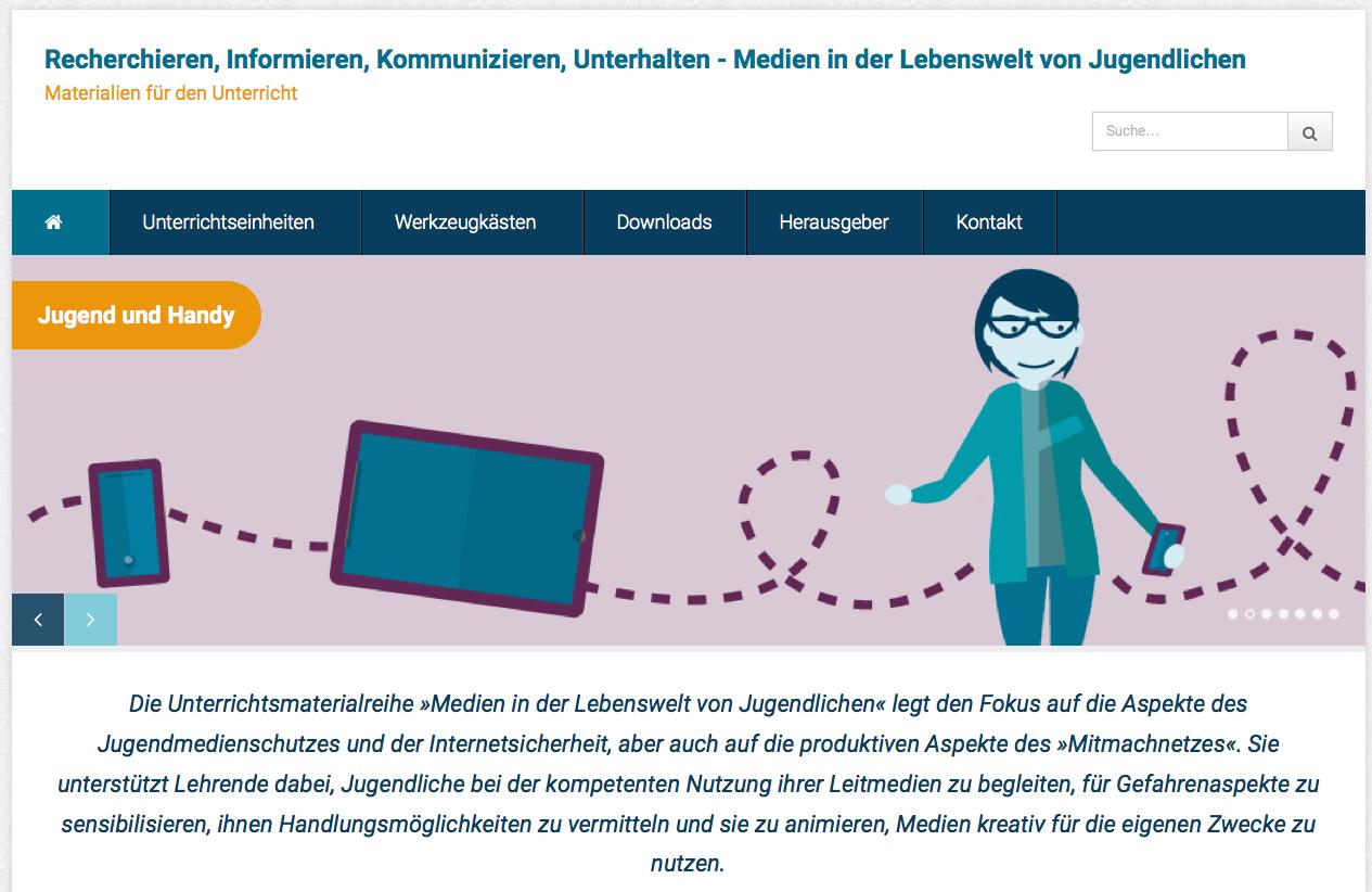 Screenshot von medien-in-die-schule.de (nicht unter freier Lizenz)