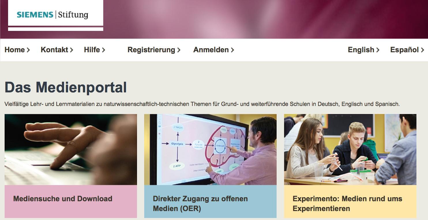 Screenshot von medienportal.siemens-stiftung.org (nicht unter freier Lizenz)