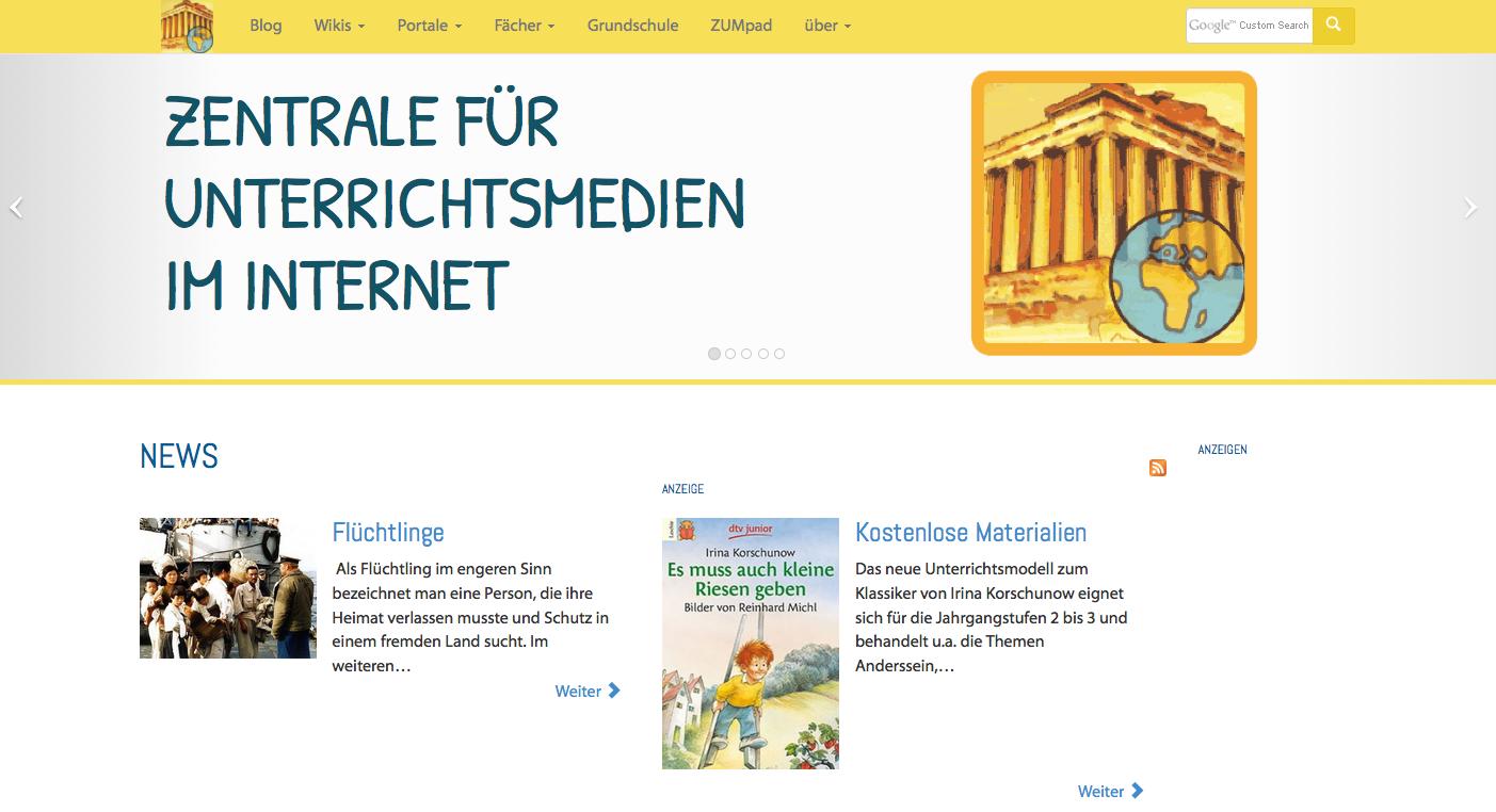 Screenshot von zum.de (nicht unter freier Lizenz)
