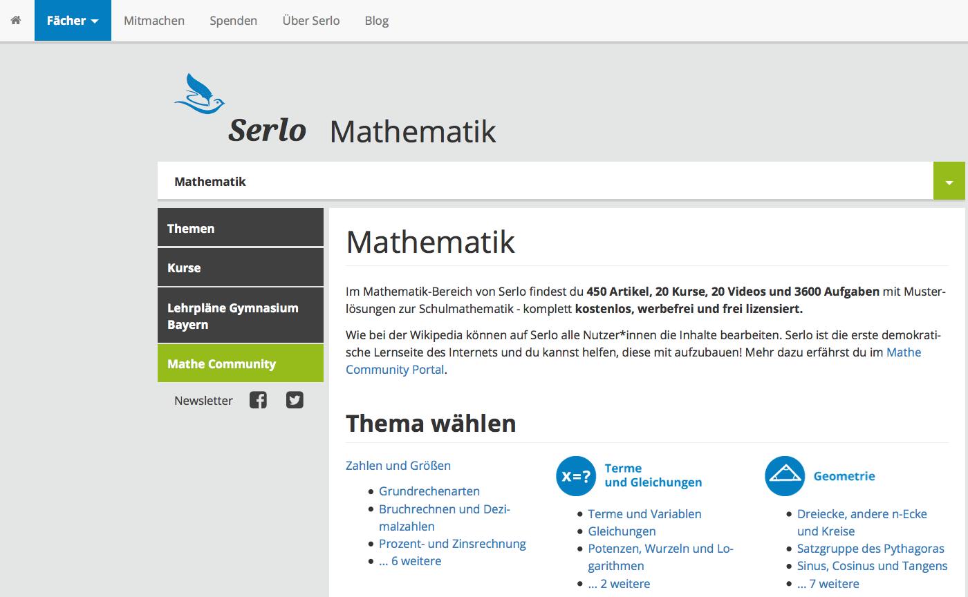 Screenshot von serlo.org (nicht unter freier Lizenz)