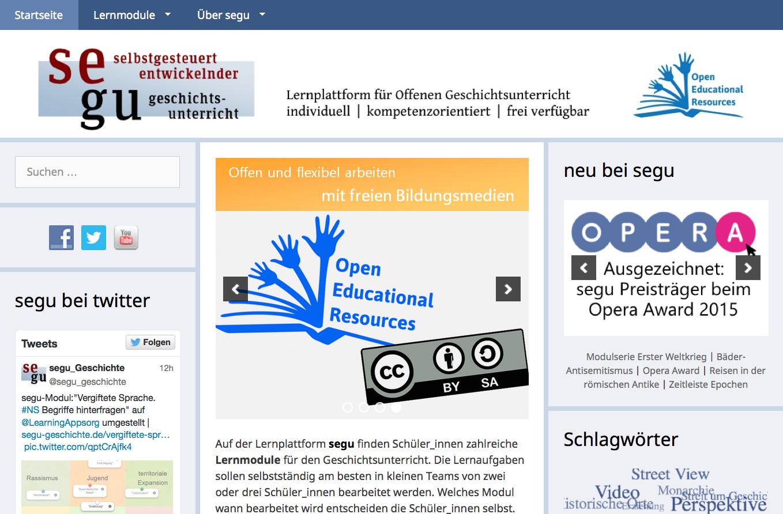 Screenshot von segu-geschichte.de (nicht unter freier Lizenz)