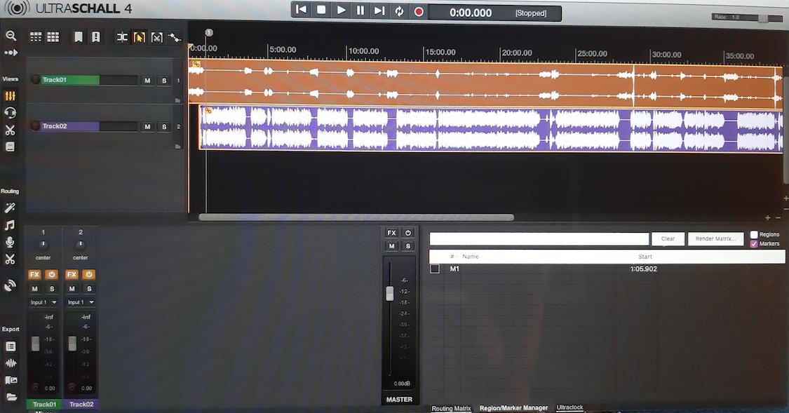Audiobearbeitung mit der Software Ultraschall
