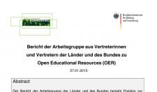 Bund-Länder-Bericht zu OER