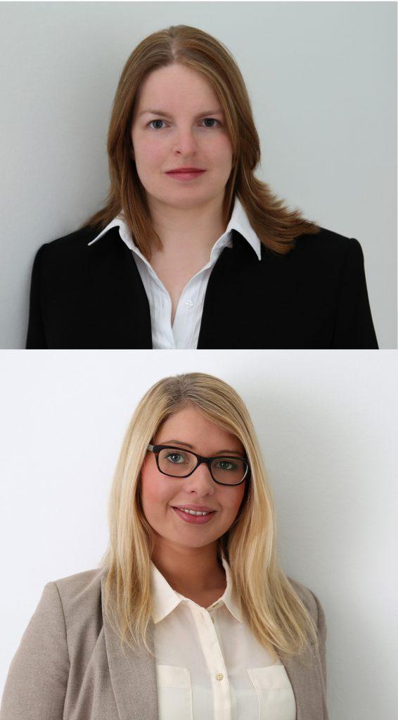 Monika Fischer (oben) und Nadine Pollmeier (unten), Fotos vom Fotostudio Clemens / Bertelsmann Stiftung