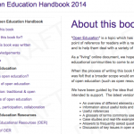Screenshot Open Education Handbook 2014