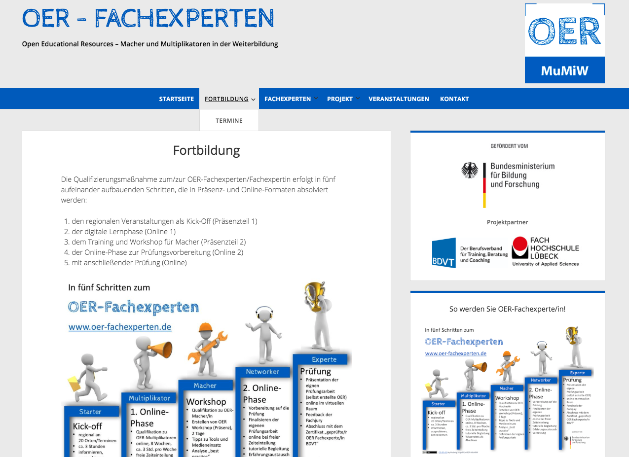 Screenshot OER-Fachexperten, CC BY 4.0.