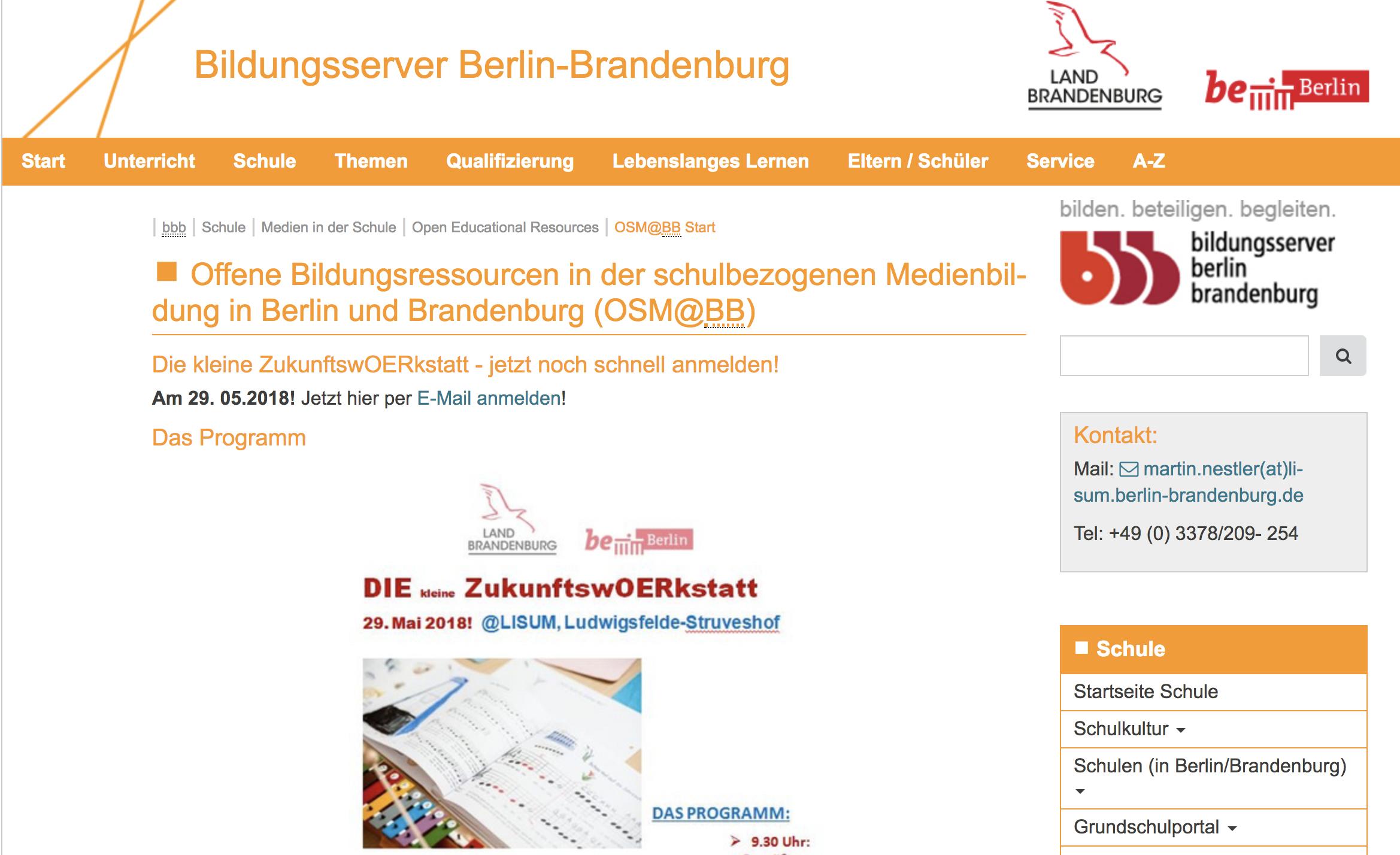 Screenshot Projekt OSM@BB, nicht unter freier Lizenz.
