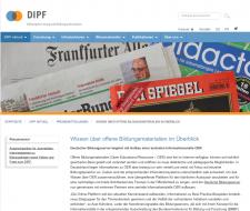 Pressemitteilung des DIPF, Screenshot, nicht unter einer freien Lizenz