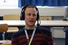Daniel Otto beim Podcasten