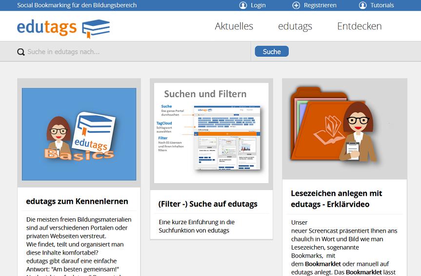 Screenshot Online-Tool edutags