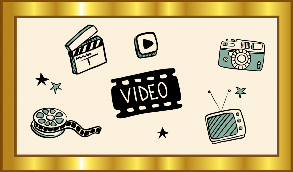 Icons illustrieren den Gold-Standard für Video als OER