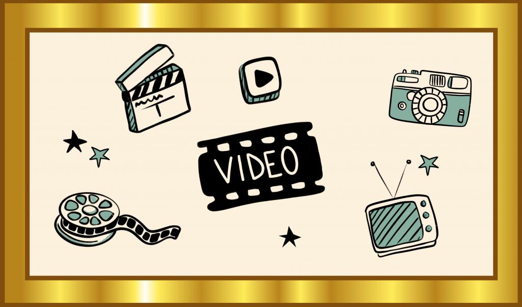 Icons illustrieren den Gold-Standard für Video als OER