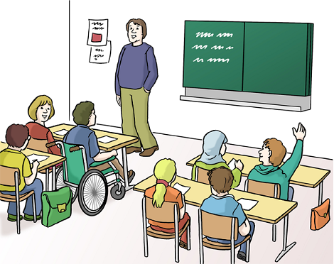 Bild von Schulklasse