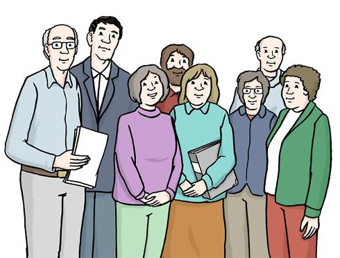 Bild von Gruppe mit Menschen