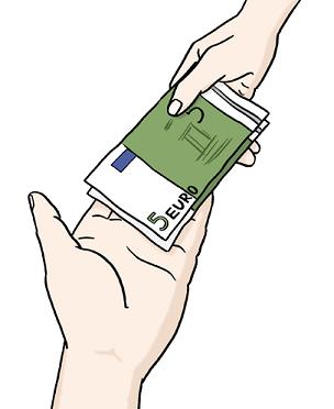 Bild von Geldaustausch