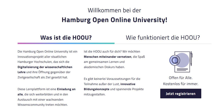 Screenshot HOOU, nicht unter freier Lizenz