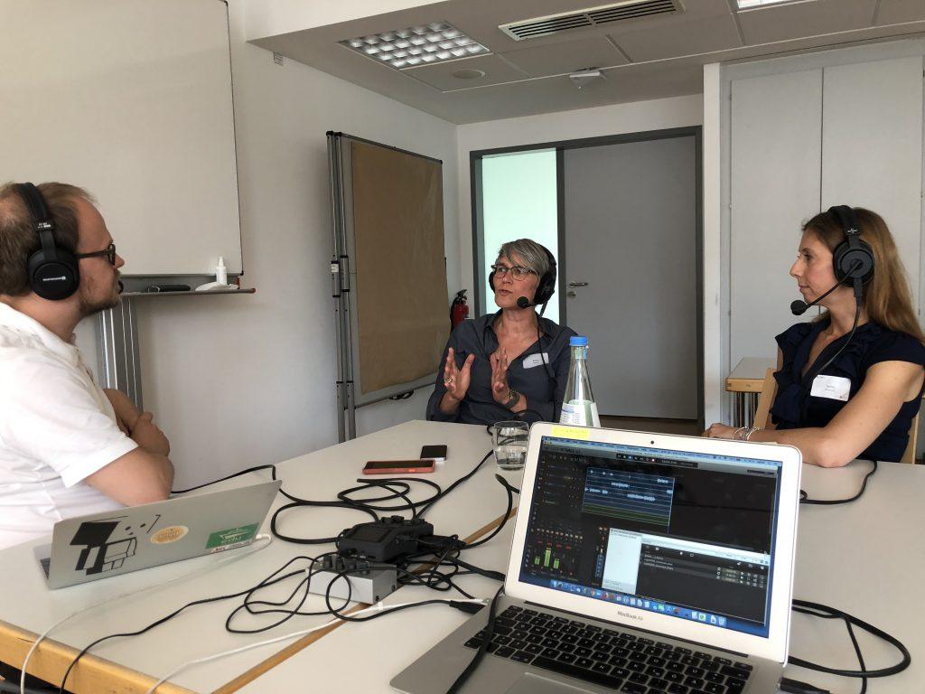 Podcast beim #OERcamp 2019 in Essen, Foto: Chris Dies, Agentur J&K – Jöran und Konsorten für OERinfo, Informationsstelle OER