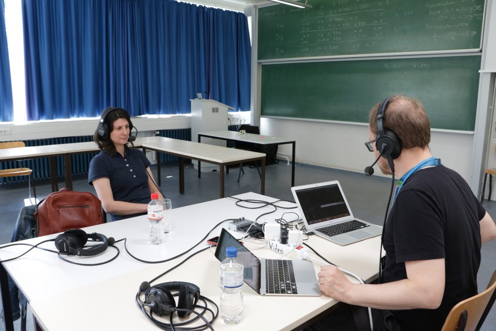 Podcast mit Monique Janneck beim OERcamp Lübeck 2019
