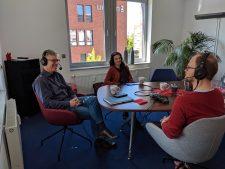 Marina Weisband und Peter Ganten im Podcast-Interview, Foto: Irina Feller CC BY 4.0