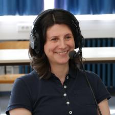 Monique Janneck im Podcast beim OERcamp 2019 in Lübeck. Foto: Christoph Friedhoff, Agentur J&K – Jöran und Konsorten für OERinfo, Informationsstelle OER