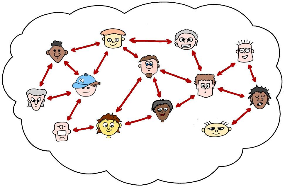 Ein Netzwerk aus verschiedenen Menschen