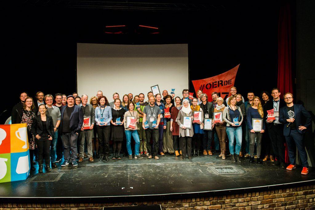 Berlin, 28.11.2017 – OER-Award 2017, Preisträger, Nominierte und Laudatoren aller Kategorien, Foto von Tilman Vogler für OERde17, CC BY 4.0