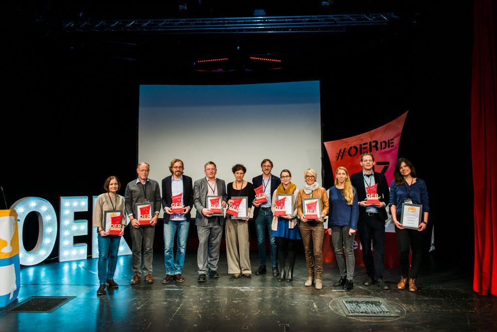 Berlin, 28.11.2017 – OER-Award 2017, die Preisträger aller Kategorien, Foto von Tilman Vogler für OERde17, CC BY 4.0