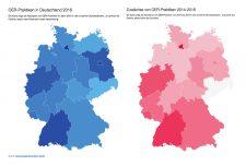 OER-Praktiken abgebildet auf einer Karte der Bundesrepublik
