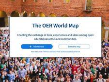 Startseite der OER World Map (Screenshot)