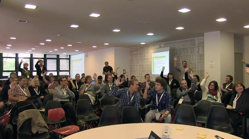 Das Plenum beim OERcamp 2012 in Bremen