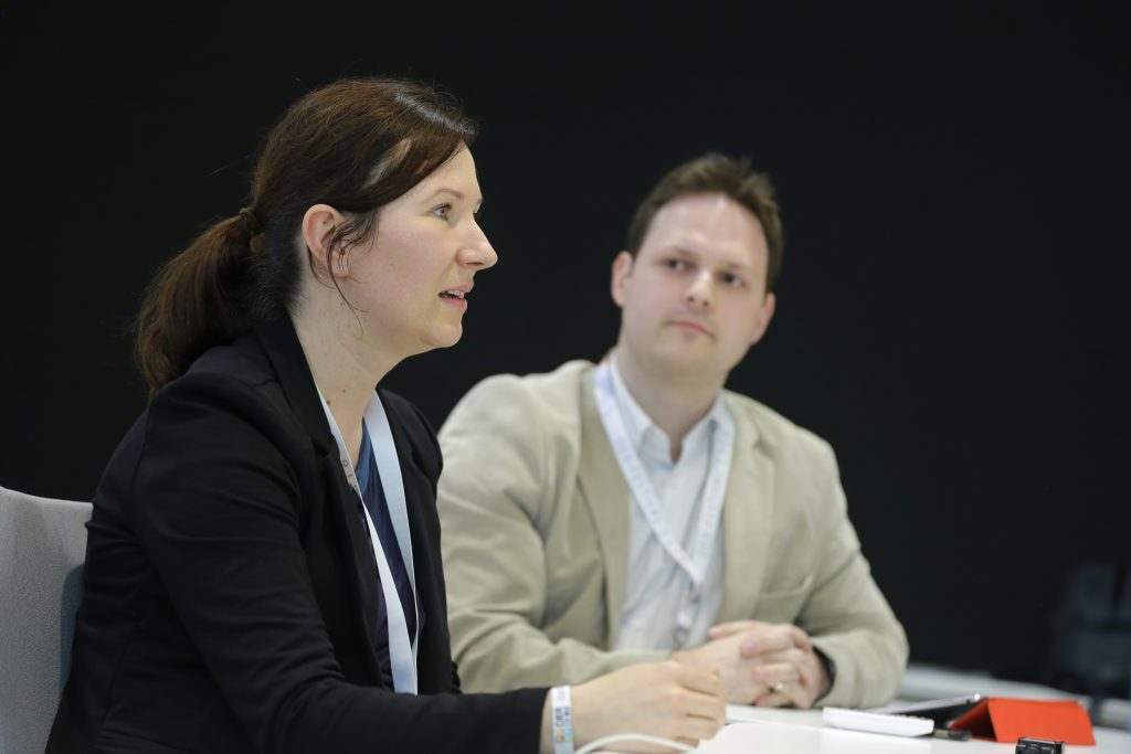 """Panel TeC17 """"Best Practice: OER in Österreich"""", hier mit Angela Kohl, Robert Schrenk"""