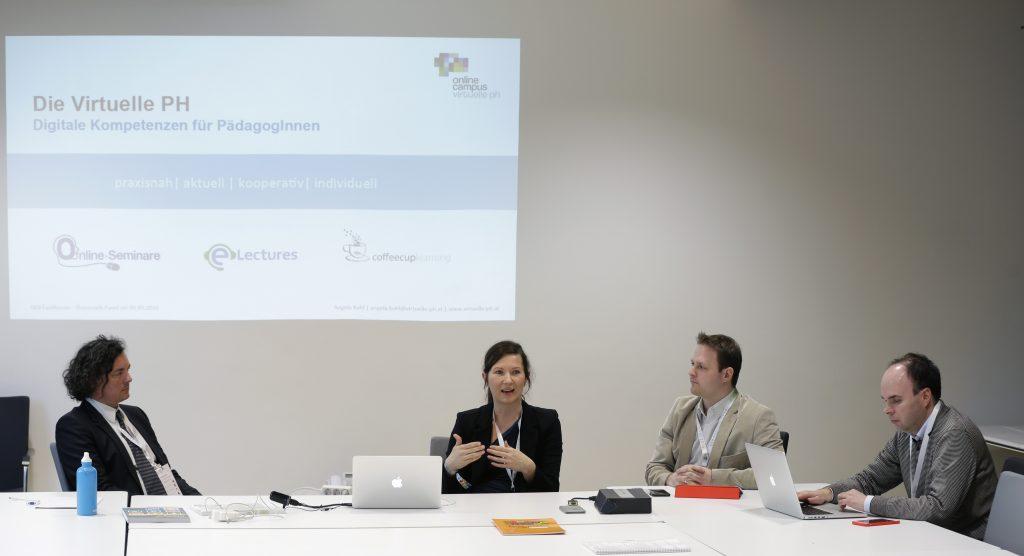 """Panel TeC17 """"Best Practice: OER in Österreich"""" mit Andreas Riepl, Angela Kohl, Robert Schrenk, David Röthler"""
