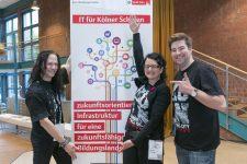 OER Köln Camp 2014 – die Moderatoren Christian Spannagel, Wibke Ladwig und Philipp Wartenberg (Foto von Stadt Köln)