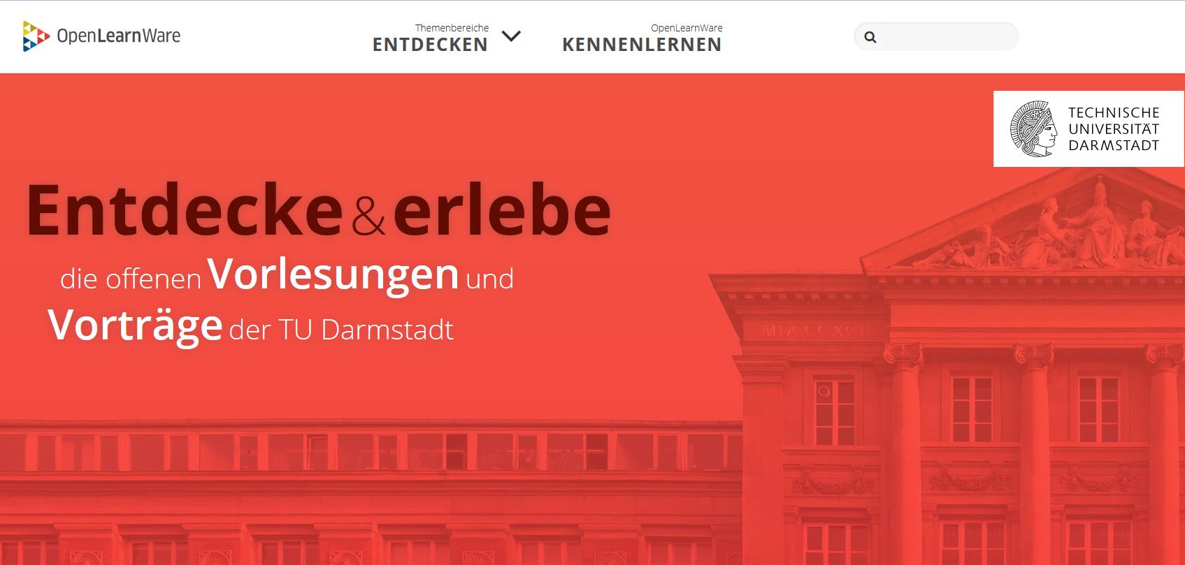 Screenshot OpenLearnware der TU Darmstadt