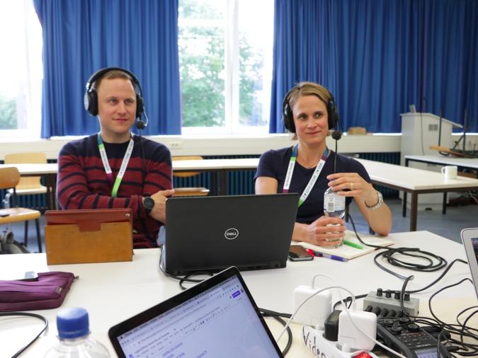 Podcast mit Pia Sander und Daniel Otto beim OERcamp 2019 in Lübeck