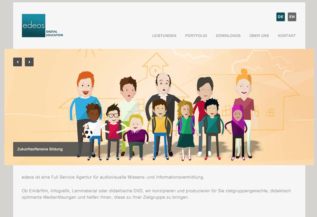 Screenshot von edeos.org (nicht unter freier Lizenz)