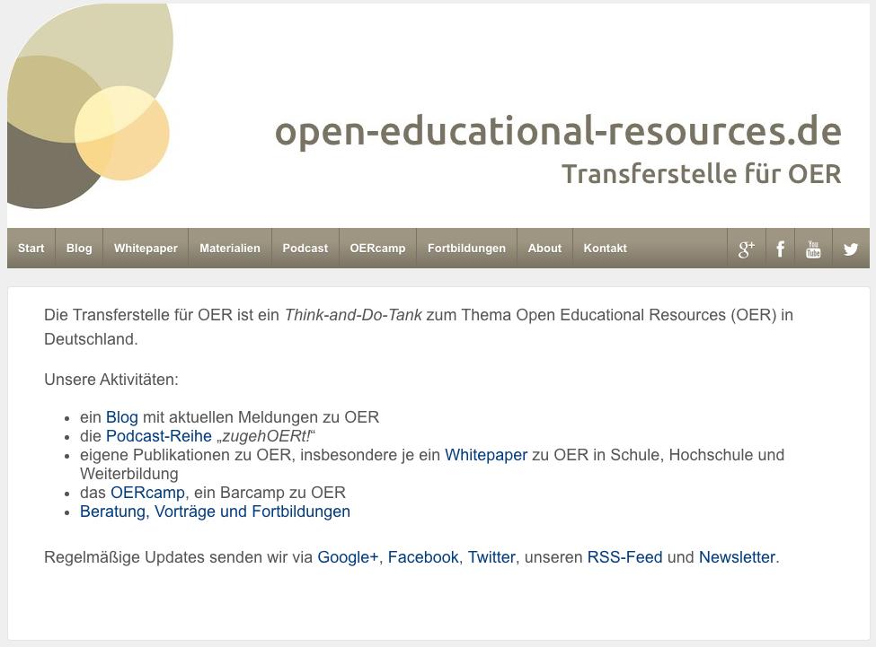 open-educational-resources.de (Screenshot nicht unter freier Lizenz)