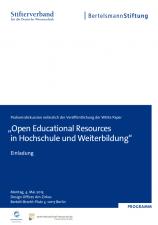 Einladung zur OER-Veranstaltung in Berlin am 4.5.2015 (Screenshot)