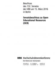 Screenshot HRK Senatsbeschluss zu OER, Screenshot, nicht unter einer freien Lizenz
