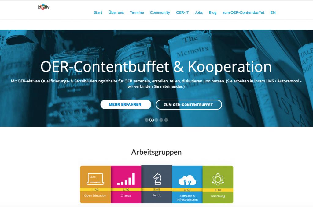 Jointly-Startseite, Screenshot