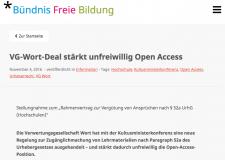 Stellungnahme zum Unirahmenvertrag (Screenshot, nicht unter einer freien Lizenz)