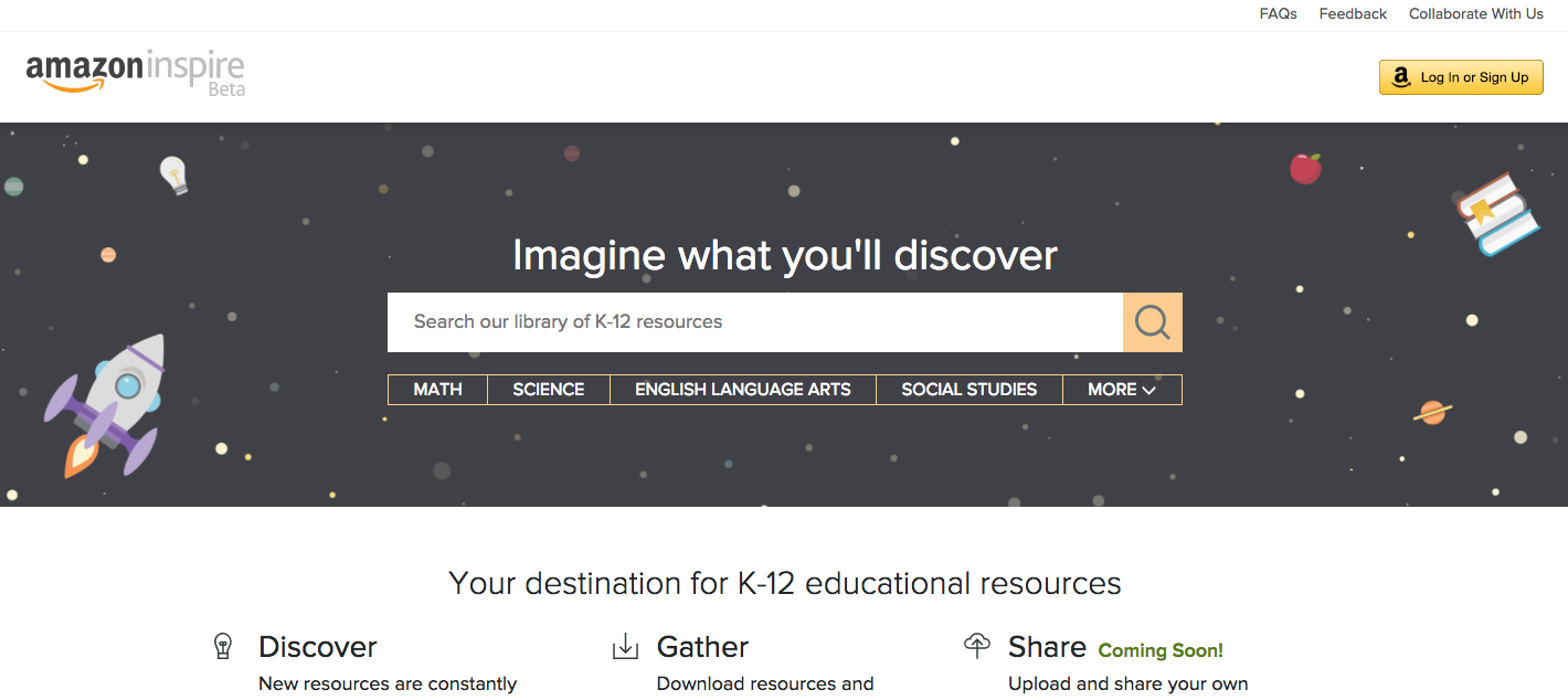 Screenshot Amazon Inspire, nicht unter freier Lizenz