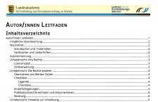 Screenshot Lehrerfortbildungsserver Baden-Württemberg, nicht unter einer freien Lizenz