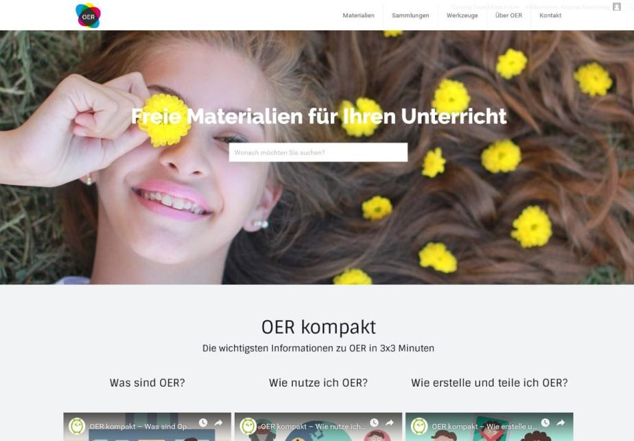 Startseite oer.schule