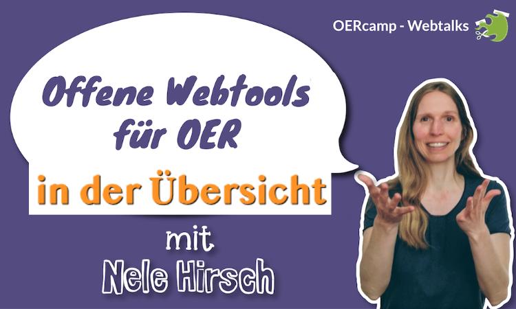 Übersicht Offene Webtools mit Nele Hirsch