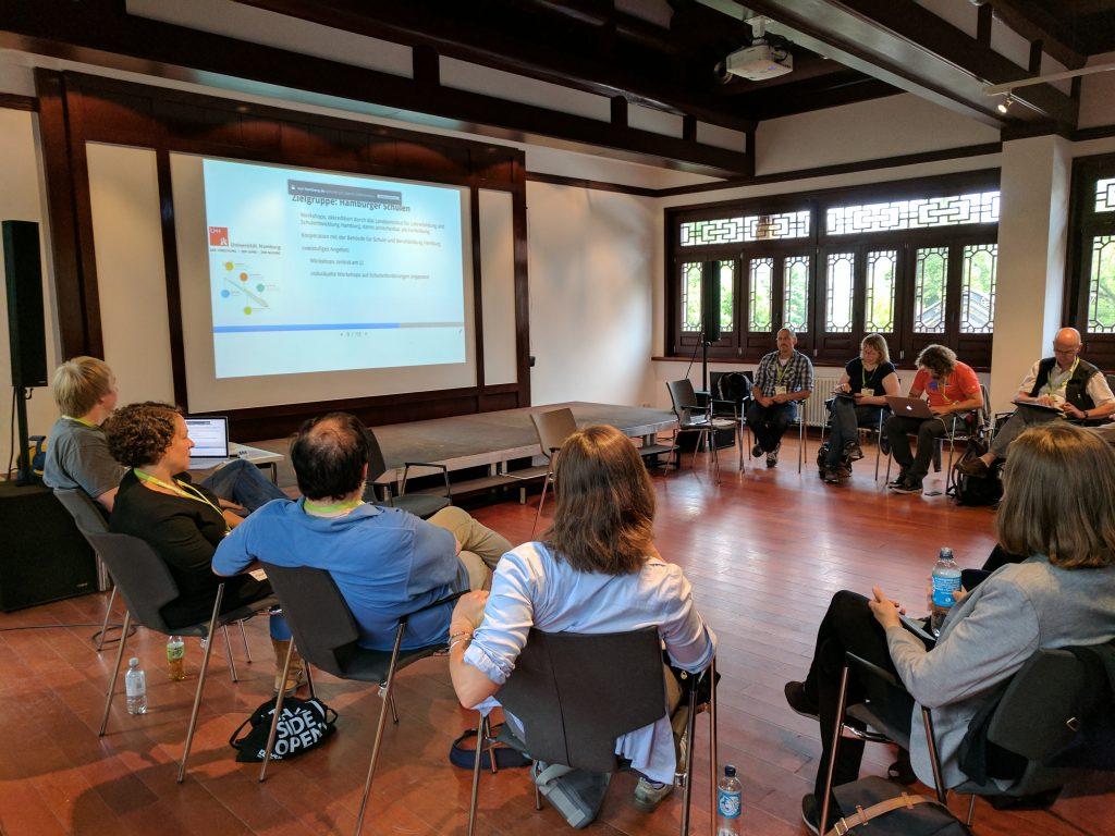 """Workshop """"Digitalisierung und OER in der Metropolregion Hamburg""""."""
