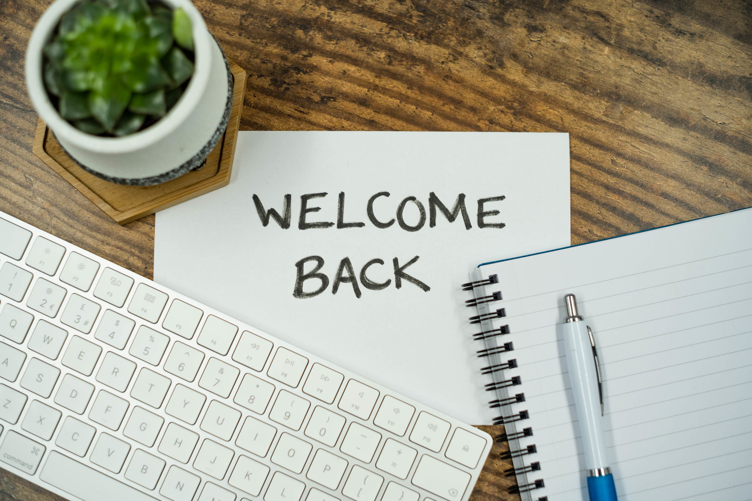 Welcome Back at Work, lakeland-furniture, CC BY 2.0