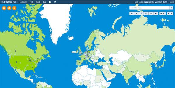 Karte - OERinfo – Informationsstelle OER