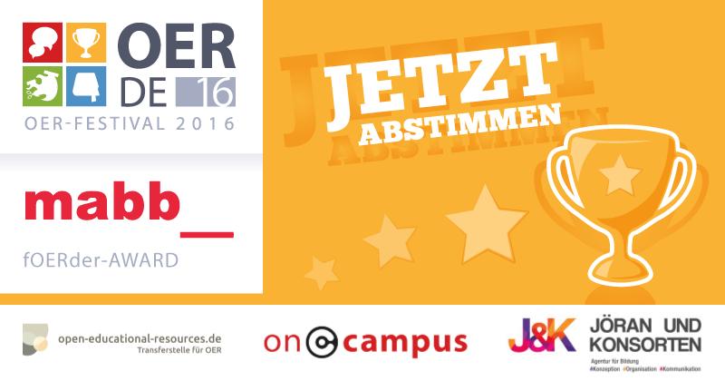 fOERder-Award – Jetzt abstimmen!