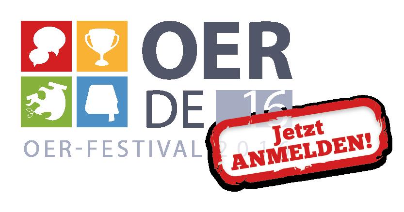 #OERde16 Logo – Jetzt anmelden!